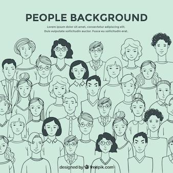 Menschen skizzieren hintergrund