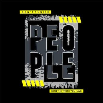 Menschen slogan schriftzug abstrakte design t-shirt lässigen stil