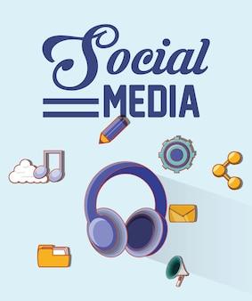 Menschen social media