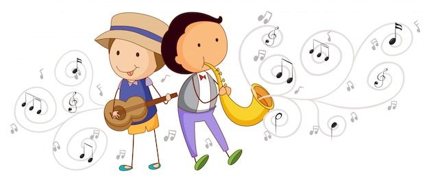 Menschen spielen musikinstrumente