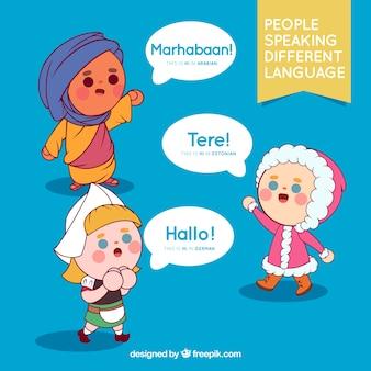 Menschen sprechen verschiedene sprachen