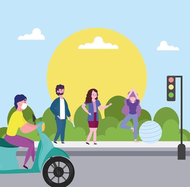 Menschen städtische aktivitäten