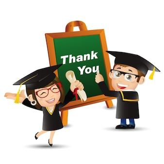 Menschen stellen bildung graduate student danke mann frau