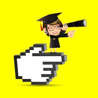 Menschen stellen bildung graduate student woman foresee