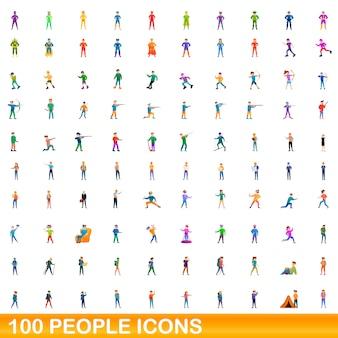 Menschen symbole gesetzt, cartoon-stil
