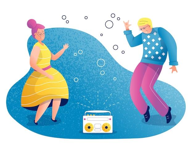 Menschen tanzen illustration