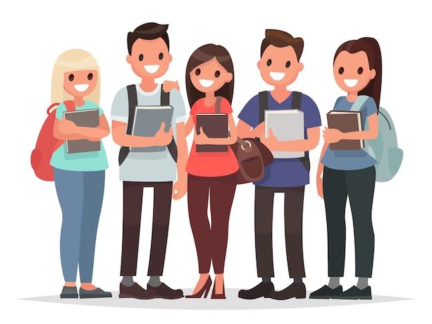 Menschen und bildung illustration