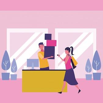 Menschen und Einkaufen