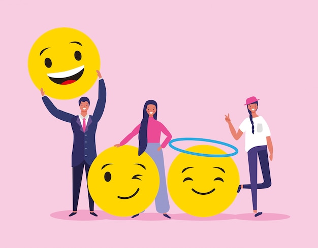 Menschen und emojis