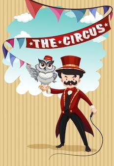 Menschen- und tiershow im zirkus