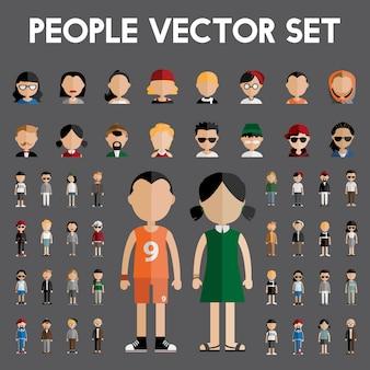 Menschen vektor festgelegt