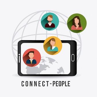 Menschen verbinden design.