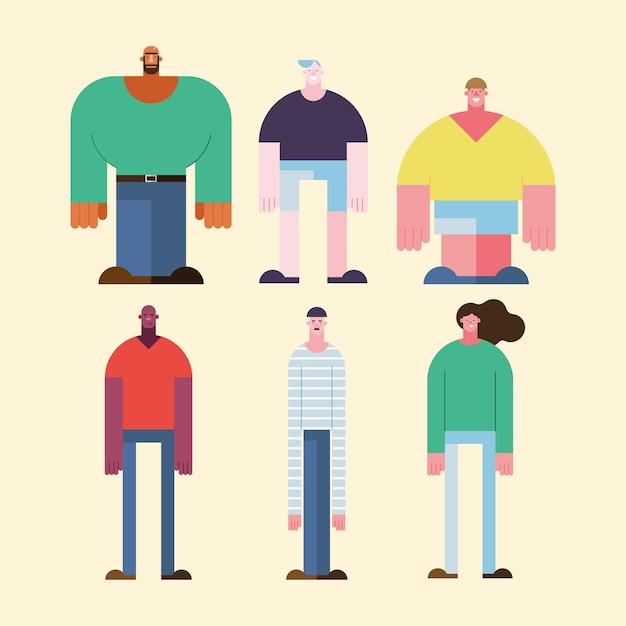 Menschen verschiedener kulturen