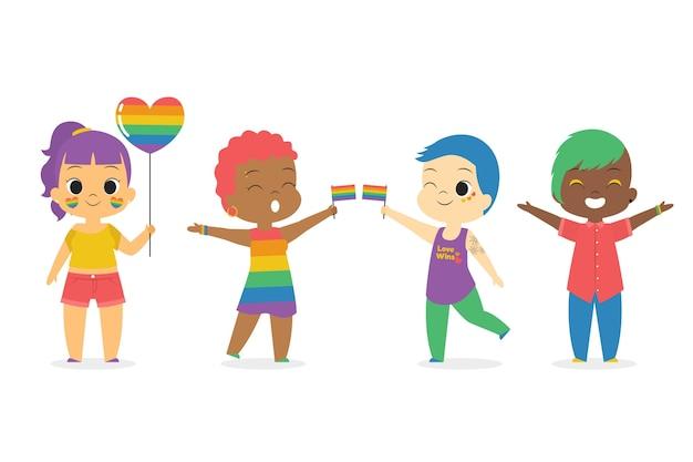 Menschen zusammen am stolz tag