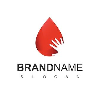 Menschenblut-logo, symbol der blutspendergesellschaft