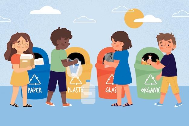 Menschenrecycling-konzept