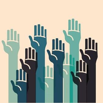 Menschliche hand desgin