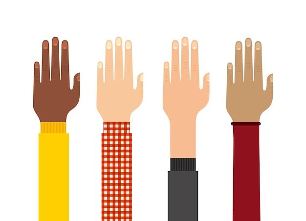 Menschliche hand symbol. teamwork-design. vektorgrafik