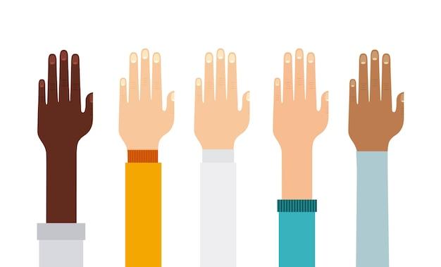 Menschliche hand symbol
