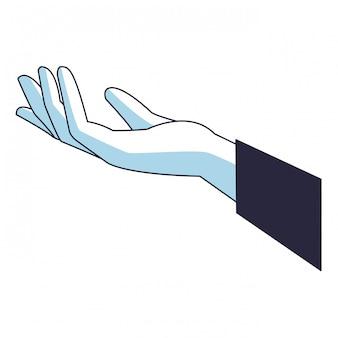 Menschliche handkarikatur