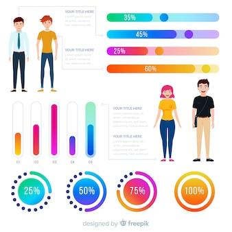 Menschliche infografik
