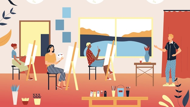 Menschliche kreativität und talente illustration
