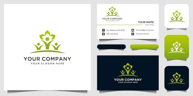 Menschliche logo-vorlage visitenkarte