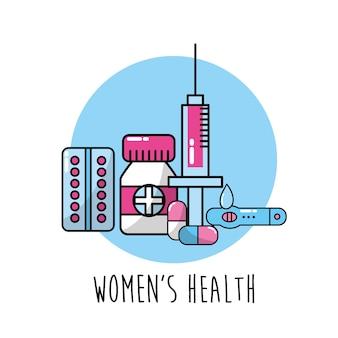 Menschliche schwangerschaft mit medizinbehandlung, um den körper zu pflegen