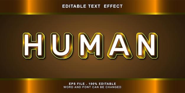 Menschlicher texteffekt editierbar