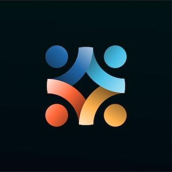 Menschliches 3d-logo