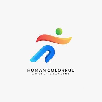 Menschliches buntes logo.