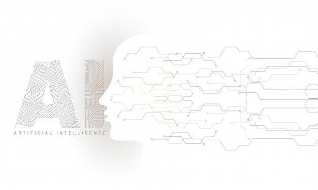 Menschliches gesicht gemacht durch digitalschaltung