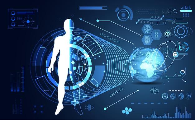 Menschliches hologramm