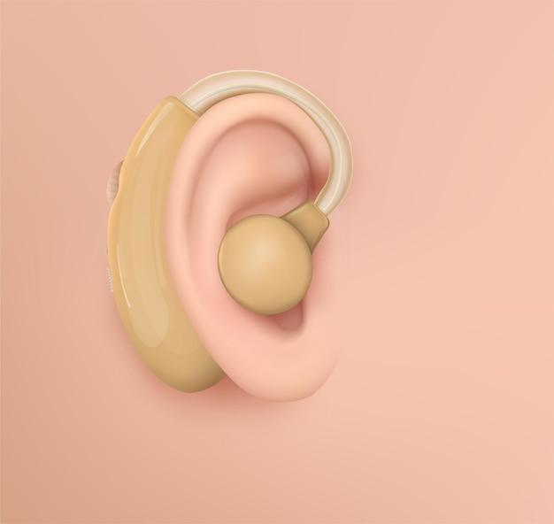 Menschliches ohr. hörbehandlung, plastische chirurgie, implantation