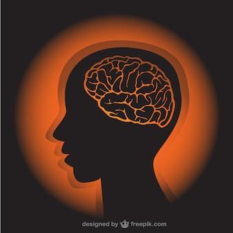 Menschliches profil illustration