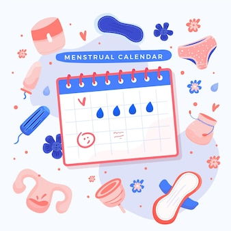 Menstruationskalender illustriertes design