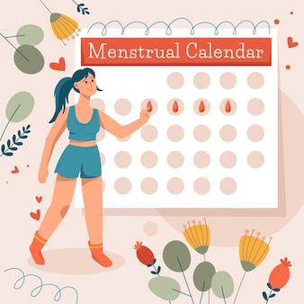 Menstruationskalender-konzept