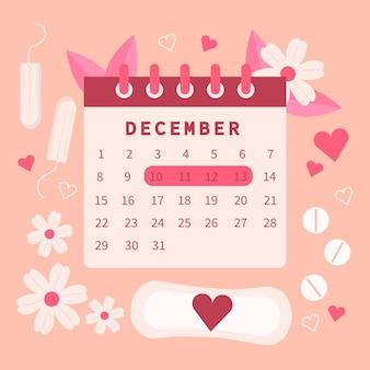 Menstruationskalender-konzeptentwurf