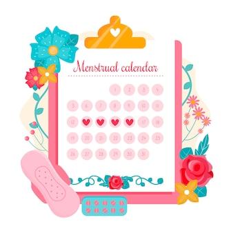 Menstruationskalender-konzeptillustration