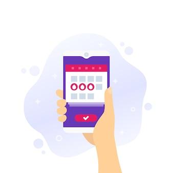 Menstruationskalender, menstruationsperiode app