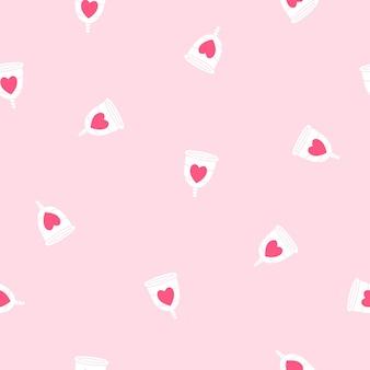 Menstruationstasse nahtlose muster