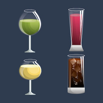 Menü cocktails liste bar