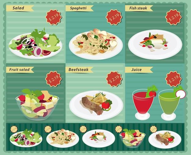 Menü essen und trinken