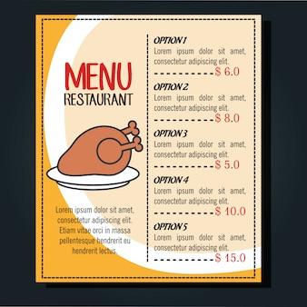 Menü restaurant design
