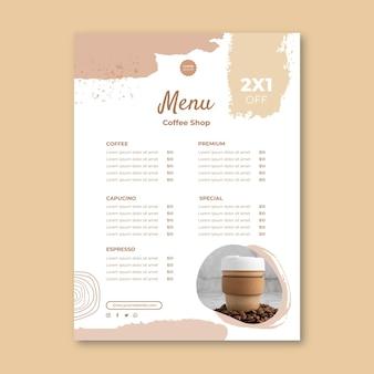 Menüvorlage für cafés