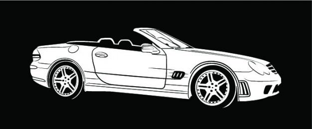 Mercedes benz auto aus seitenansicht