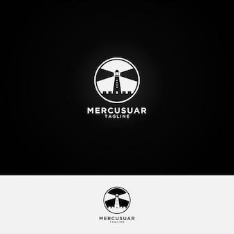 Mercusuar-logo-design-vorlage