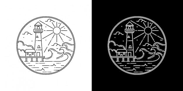 Mercusuar tower monoline abzeichen design