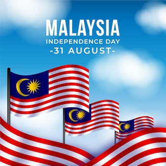 Merdeka - malaysia unabhängigkeitstag