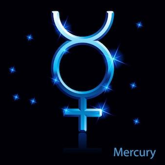 Merkurzeichen.
